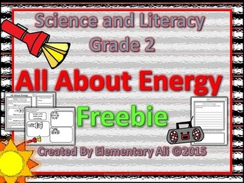 2nd Grade Science and Literacy: All About Energy (STAAR & NGSS)