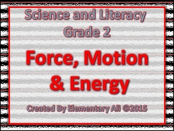 2nd Grade Science and Literacy: Force, Motion, and Energy