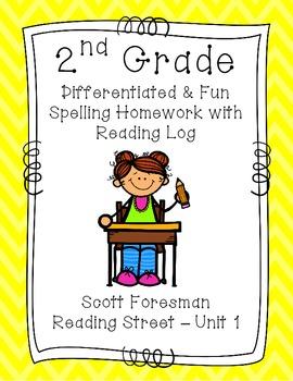 2nd Grade Scott Foresman Reading Street Homework- Unit 1-