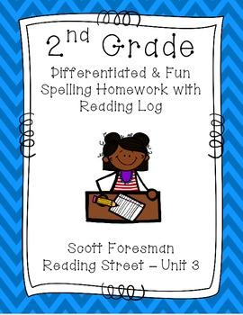 2nd Grade Scott Foresman Reading Street Homework- Unit 3-