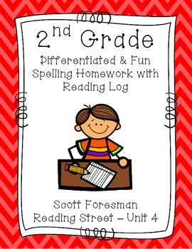 2nd Grade Scott Foresman Reading Street Homework- Unit 4-