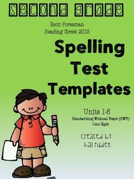 2nd Grade Scott Foresman Reading Street Spelling Test Temp