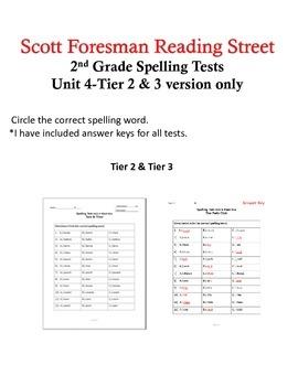 2nd Grade Scott Foresman Reading Street Unit 4 Tier 2 & 3