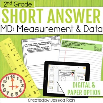 2nd Grade Short Answer- Measurement and Data MD