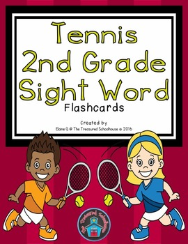 2nd Grade Sight Word Flashcards - Tennis