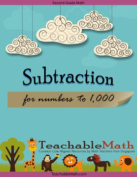 2nd Grade Singapore Math Worksheet - Subtraction to 1000