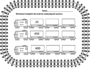 2nd Grade Skip Counting Trains