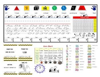 2nd Grade Snoopy theme desk information chart