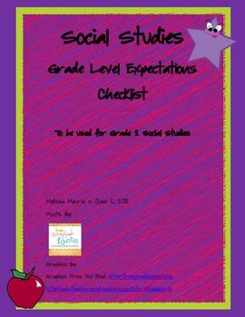 2nd Grade Social Studies Checklist