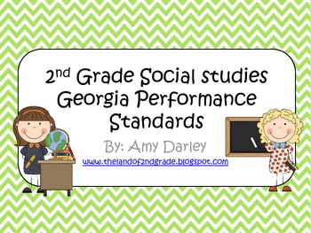 2nd Grade Social Studies Georgia Performance Standards and