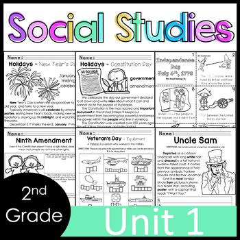 2nd Grade - Social Studies - Unit 1 - Symbols, USA, Rules/