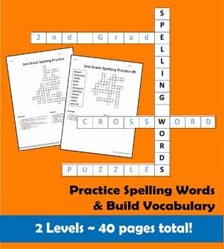 2nd Grade Spelling Word Crossword Puzzles