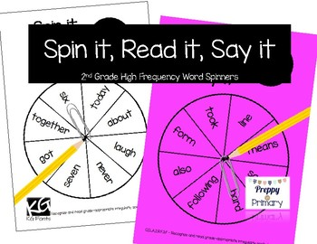 2nd Grade [ Spin it, Read it, Say it ] High Frequency Word