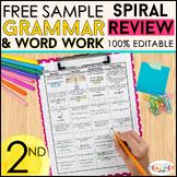 2nd Grade Language Homework 2nd Grade Morning Work FREE
