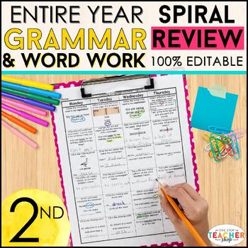 2nd Grade Language Homework 2nd Grade Morning Work Grammar