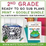 2nd Grade Sub Plans Ready To Go for Substitute. ONE FULL WEEK!