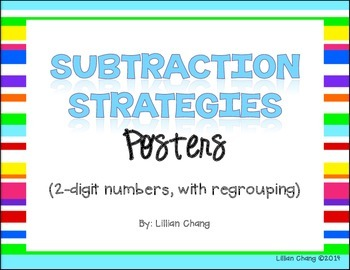 2nd Grade Subtraction Strategies Posters (2-digit, WITH re