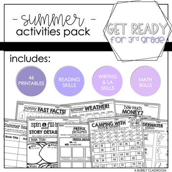 2nd Grade Summer Activities Packet {Print & Go}