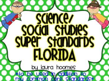 2nd Grade Super Standards- FLORIDA Science/Social Studies