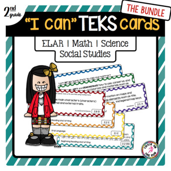 2nd Grade TEKS Card Bundle