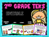 2nd Grade TEKS EDITABLE posters-All Objectives