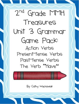 2nd Grade Treasures Unit 3 Grammar Pack