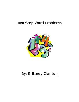 2nd Grade Two Step Word Problems