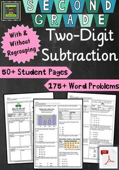 2nd Grade Unit & Test: Two Digit Subtraction Problem Solvi