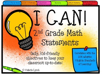 2nd Grade VIRGINIA Math I CAN Statements
