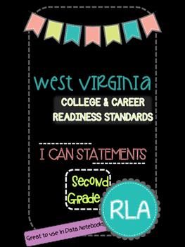 2nd Grade WV College and Career Readiness I can Statements-RLA