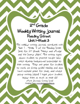 2nd Grade Weekly Writing Journal - Reading Street Unit 1 Week 3