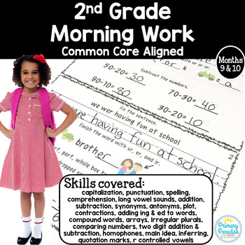 Morning Work for 2nd Grade (Welcome Work) Months 9 and 10