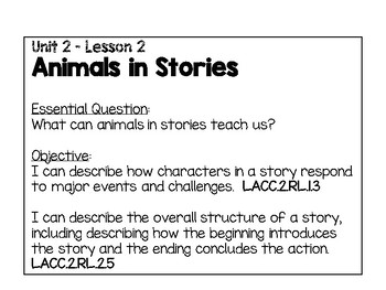 2nd Grade Wonders Reading Unit 2 - Focus Wall w/ FL-ELA Co