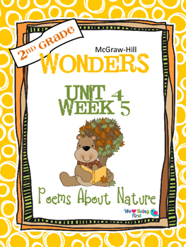 2nd Grade Wonders Reading ~ Unit 4 Week 5 ~ Poems About Nature