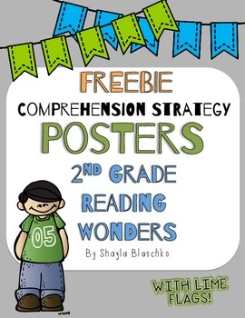 2nd Reading Wonders LIME COMPREHENSION STRATEGY Posters/An