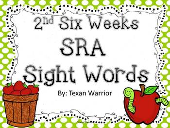 2nd Six Weeks SRA PowerPoint Sight Words Review