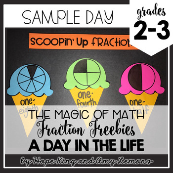 2nd and 3rd Grade Magic of Math:  Fraction Sample Day