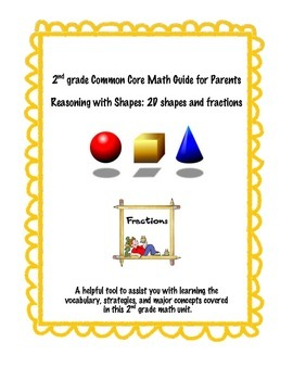 2nd grade Common Core Parent Resource-Geometry and Fractions