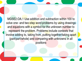 2nd grade GSE standards posters