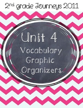 2nd grade Journeys Unit 4 Vocabulary Graphic Organizers