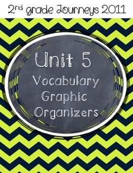 2nd grade Journeys Unit 5 Vocabulary Graphic Organizers