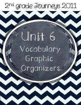 2nd grade Journeys Unit 6 Vocabulary Graphic Organizers