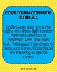 2nd grade Math Common Core Standards Posters Numbers and O