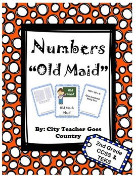 2nd grade math game - Old Maid - place value, base ten, ex