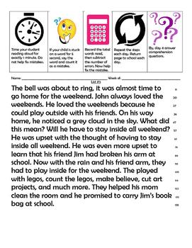 2nd grade sight word & fluency passages