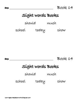 2nd grade sight words book 14