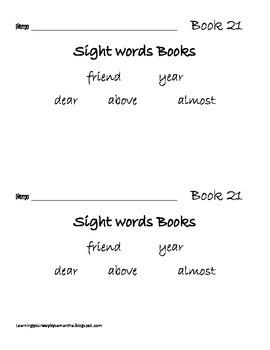 2nd grade sight words book 21