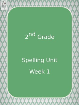 2nd grade spelling unit