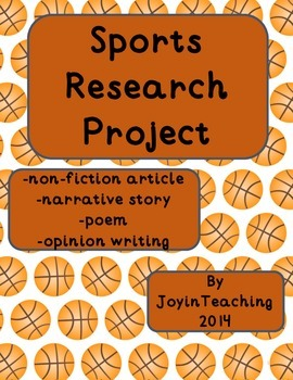 2nd/3rd Sports Research Project:Informational, Narrative,