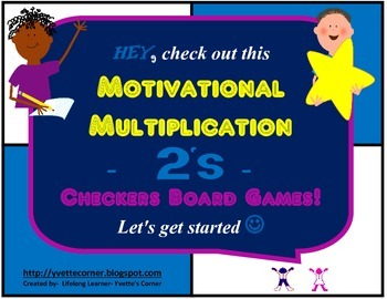 """2's Multiplication Checkers Games w/Quizzes etc. and """"Scaf"""